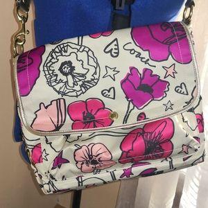 Coach pink poppy messenger bag